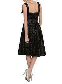 HOTTOPIC.COM - Hell Bunny Black Tattoo Flocked Dress