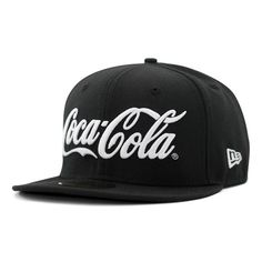 COCA COLA x NEW ERA「Soda Series」59Fifty Fitted Baseball Caps  ... ❤ liked on Polyvore featuring accessories, hats, caps, casquette, fitted hats, fitted caps, fitted baseball caps, fitted baseball hats and baseball cap