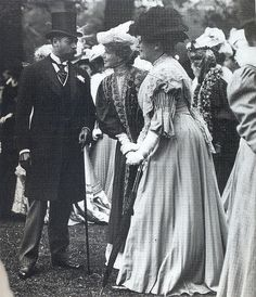 King George V at Ascot, 1907, via Flickr.he was a lover to Jenny Jerome( Churchill's Mother) for over 20 years.