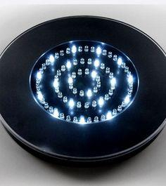 "Vase Lighting 10"" Black LED Vase Light Battery Operated 80 RGBW"
