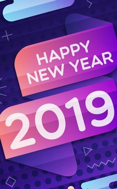 2019 happy new year inscription typography abstract 950x1534 wallpaper