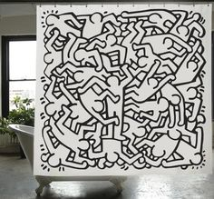221 best haring unglingar images keith haring art - Keith haring shower curtain ...