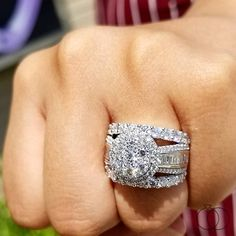 Ask for her hand with this exquisite Mosaic Collection diamond engagement ring. This collection features smaller diamonds combined to produce a brilliantly bigger look at affordable pricing. Shop Engagement Rings, Rose Gold Engagement Ring, Diamond Wedding Rings, Bridal Rings, Oval Engagement, Diamond Rings, Beautiful Wedding Rings, White Gold Diamonds, Karate