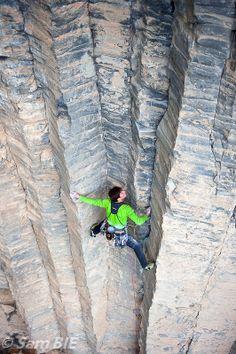 Rockclimbing at Garni Gorge, Armenia