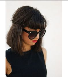 Bob hairstyles with bangs cowl a variety of hair lengths and vogue kinds, due to this fact when you're feeling tired of your individual hair, these brightly colored bobs will shortly liven you up Bob Hairstyles With Bangs, Short Hair With Bangs, Short Hair Cuts, Cool Hairstyles, Bob Haircuts, Full Bangs, Hair Bangs, Hairstyle Ideas, Layered Hairstyles