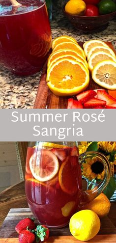 Summer Rosé Sangria will quickly become a must-have for your summer parties or a fantastic choice for enjoying happy hour on the porch on one of our warm summer evenings. #summer #sangria #cocktail #alcohol