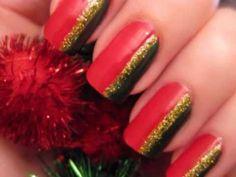 Video Tutorial - Easy Christmas Nail Art