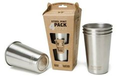 Kanteen Stainless Steel Pint Cup - solutions to single-use plastic. Made of food-grade stainless steel, the Kanteen Steel Pint Cup is durable, versatile, reusable, and dishwasher safe. Hacks, Smoothie Detox Plan, Coffee To Go Becher, Pint Cups, Red Solo Cup, Stainless Steel Cups, Stainless Steel Travel Mug, Plastic Cups, Can Opener