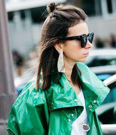 Boucles d'oreilles Loewe vues à la Fashion Week printemps-été 2017