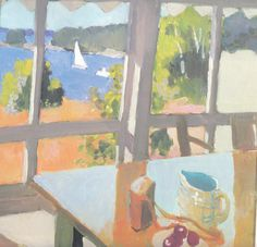 FAIRFIELD PORTER  Still Life with Boats (1968)