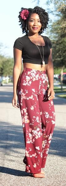 OOTD Palazzo Pants and Crop Top  http://fashiontoliveflstyle.blogspot.com/2013/11/thanksgiving-day-ootd-palazzo-pants-and.html