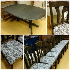 HJERTEHJORT: Furu-spisestue som skulle få plass på hytta! Med omtrekk av stoler!