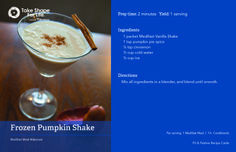 Fall is pumpkin season. And what's better than a Frozen Pumpkin Shake?! Enjoy! #TSFL