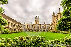 Magdalen College, Oxford University in Oxford,  England
