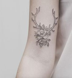 Antlers by Tritoan Ly #tattoo