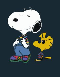 Snoopy In Overalls. I would seriously get this as a tattoo lol