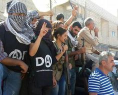 Members of Istanbul anarchist group DAF after crossing into Syria to take part in the defence of Kobane against Isis
