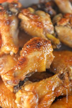 Sweet and Spicy Chicken Wings Recipe ~ Chicken Wings make a favorite appetizer or meal and these easy chicken wings are a definite hit. Sweet and spicy, you'll love this simple recipe. Sweet And Spicy Chicken Wings Recipe, Cooking Chicken Wings, Chicken Wing Recipes, How To Cook Chicken, Spicy Wings, Baked Chicken, Asian Chicken, Recipe Chicken, Yummy Appetizers
