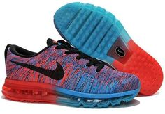 quality design a671a fd171 Flyknits Air Max Orange Blue Black Red Nike Flyknit, Air Max Sneakers,  Sneakers Nike