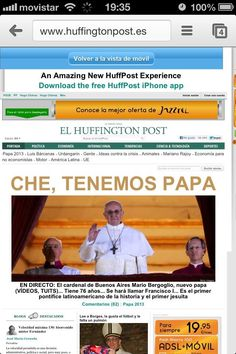 "El HuffPost: ""Che, tenemos papa"""