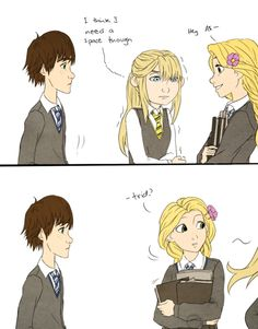 Astrid and Hiccup in Hogwarts, Part 2/9