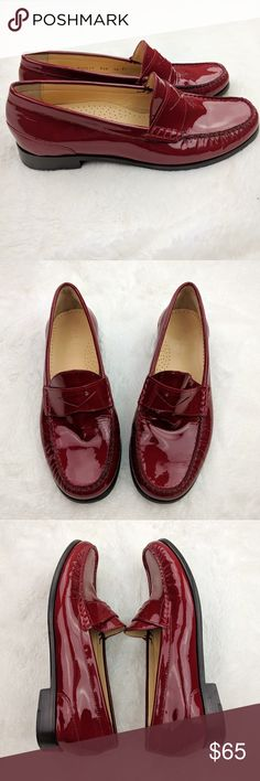 Cole Haan Nike Air Red Patent Leather Penny Loafer Cole Haan Nike Air Women's Brick Red Patent Leather Penny Loafers  Size: 6.5  Excellent pre-owned condition. Not visible scratches or stains.  Thanks for stopping by Cole Haan Shoes Flats & Loafers