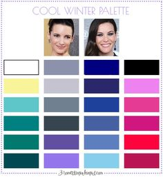 Best colors for Cool Winter seasonal color women; Cool Winter color palette | #CoolWinter #colorpalette