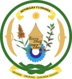 Brasão de armas de Ruanda. Coat of arms of Rwanda.