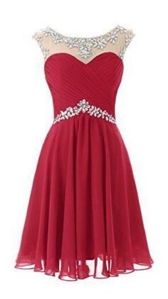 Dresstells Short Prom Dresses ing Dress for Juniors Birthday Dress Dark Red Size…