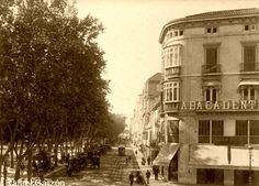 Malaga antigua Old photograph Alameda,fotos, old, century, photos, nineteenth, xix, siglo