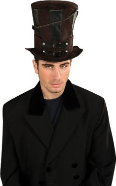 Nice Rubie's Costume Steampunk Top Hat With Chains and Buckles