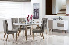 Modernas salas de jantar decoradas de forma simples