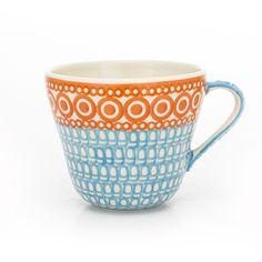 KUBEK 0,6L  Piękny wyrób ceramiczny, ręcznie malowany, bezpieczny dla zdrowia, można używać w mikrofalówkach, piekarnikach i zmywarkach.               ...