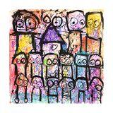 One Big Family Giclee-trykk av Poul Pava