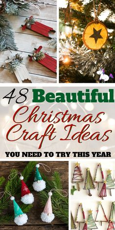 Here you'll find a selection of the best Christmas craft ideas you're gonna love! Christmas gift wrapping ideas to money saving Christmas tree decorations! Diy Holiday Gifts, Christmas Gifts For Women, Christmas Gift Wrapping, Holiday Crafts, Christmas Holidays, Christmas Ornaments, Christmas Crafts To Sell Make Money, Spring Crafts, Craft Gifts