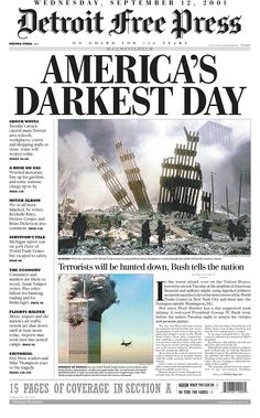 9 11 Newspaper Covers | ... newspaper front pages from September 11 & 12, 2001 collected by The