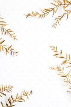 Pintar pencas de palma color dorado y usarlas de decoración. #StockPhotography
