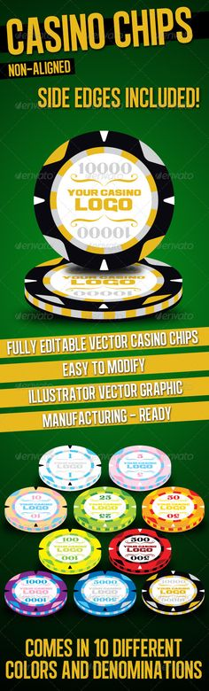 Casino Chips #vector #eps #chips #bet • Available here → https://graphicriver.net/item/casino-chips/1681577?ref=pxcr