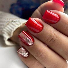 Chrome Nail Polish, Nail Polish Art, Chrome Nails, Red Acrylic Nails, Red Nails, Red Nail Designs, Acrylic Nail Designs, Bling Nails, Swag Nails