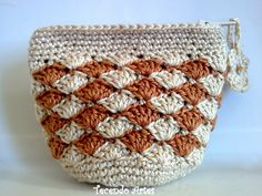 Tecendo Artes em Crochet: Porta-Moedas Bicolor