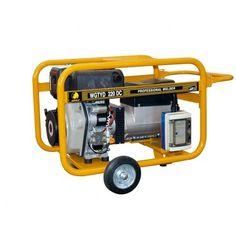 Motosoldadora generador Benza WGTYD 220 DC La Motosoldadora-generador Benza WGT 220 DC está fabricado con motor Yanmar L100 10 HP - Cilindrada = 435 cc  - Arranque = Manual - Depósito combustible 16 Ltrs. Peso 118 kg.