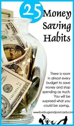 Money Saving Habits that can help almost everyone save money. Simple financial tips and ways to save money.