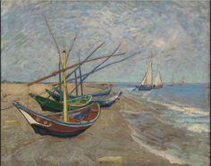 Vincent van Gogh, Fishing Boats on the Beach at Les Saintes-Maries-de-la-Mer on ArtStack #vincent-van-gogh #art