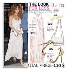 """""""Look for Less: Summer Style -Rihanna"""" by kusja ❤ liked on Polyvore featuring Pacha, Steve Madden, Charlotte Russe, LookForLess, Rihanna, celebstyle and celeblookforless"""