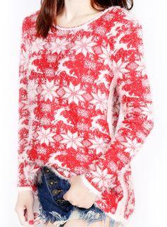 Women's Snowflake Christmas Fair Isle Pullover Sweater