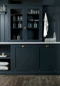 Dark cabinets for the bathroom or kitchen