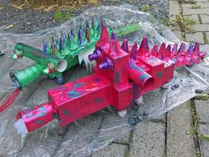 """Drachen und Fantasiewesen"" Diy Recycling, Upcycle, Toys, Crafts For Boys, Thursday, Boxes, Kites, Bricolage, Ideas"