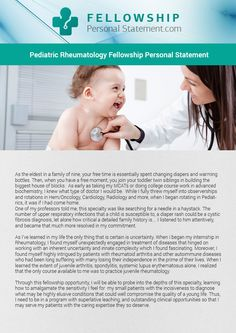 Pin by Med Fellowship Pics on Rheumatology Personal Statement