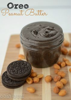 Oreo, our favorite cookies (StoresConnect. Oreo Peanut Butter - probably the best peanut butter ever! Köstliche Desserts, Delicious Desserts, Dessert Recipes, Yummy Food, Jar Recipes, Recipe Tips, Drink Recipes, Yummy Recipes, Recipies