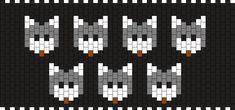 Wolf Heads  Kandi Pattern